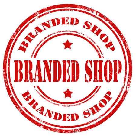 branded: Grunge rubber stamp with text Branded Shop,vector illustration Illustration
