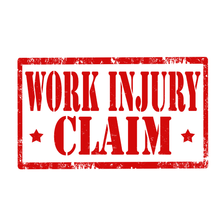 pretend: Grunge rubber stamp with text Work Injury-Claim,vector illustration Illustration