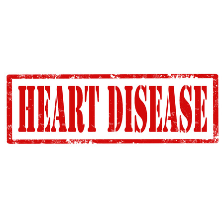 malady: Grunge rubber stamp with text Heart Disease,vector illustration