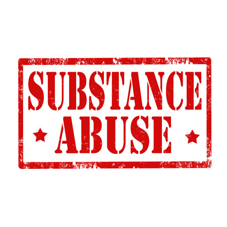 substance abuse: Grunge rubber stamp with text Substance Abuse,vector illustration Illustration