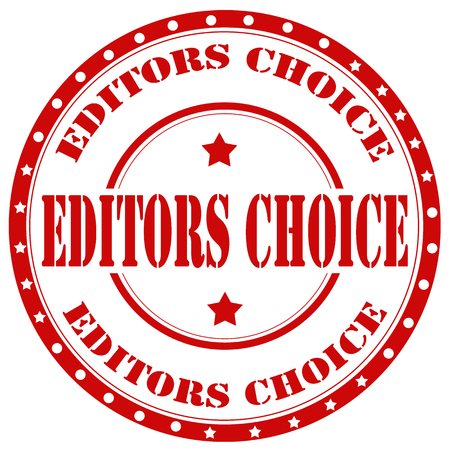 editors: Red rubber stamp with text Editors Choice,vector illustration