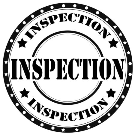 inspected: Black rubber stamp with text Inspection,vector illustration
