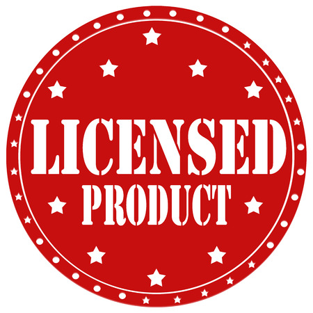 licensed: Red label with text Licensed Product,vector illustration Illustration