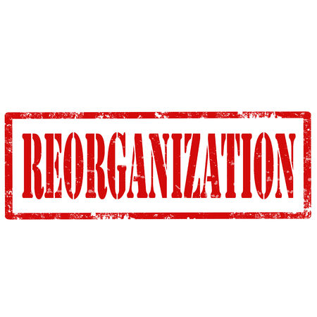 reformation: Grunge rubber stamp with text Reorganization Illustration