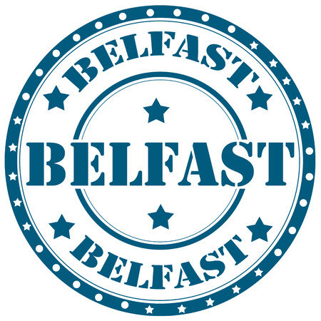 belfast: Rubber stamp with text Belfast,vector illustration