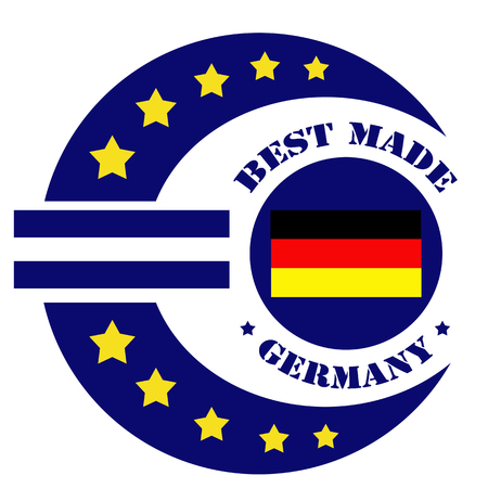 made in germany: Label with text Best Made -Germany and abstract euro sign,vector illustration Illustration