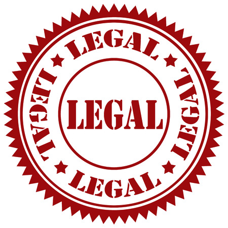 legitimate: Rubber stamp with text Legal,vector illustration Illustration