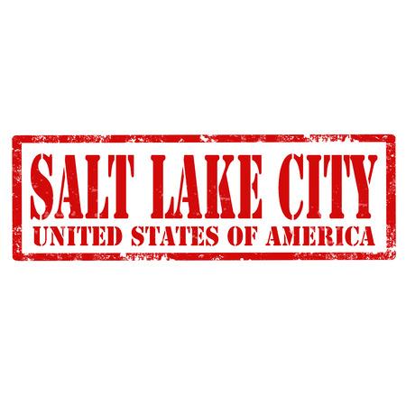salt lake city: Grunge rubber stamp with text Salt Lake City,vector illustration