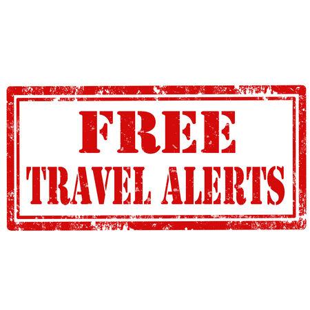 alertas: Grunge sello de goma con el texto de alertas gratuito Viajes, ilustraci�n vectorial Vectores