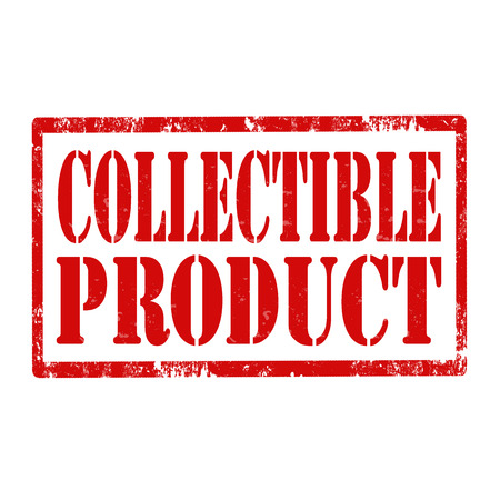 collectible: Grunge rubber stamp with text Collectible Product,vector illustration