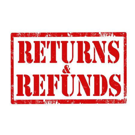refunds: Grunge rubber stamp with text Returns   Refunds,vector illustration
