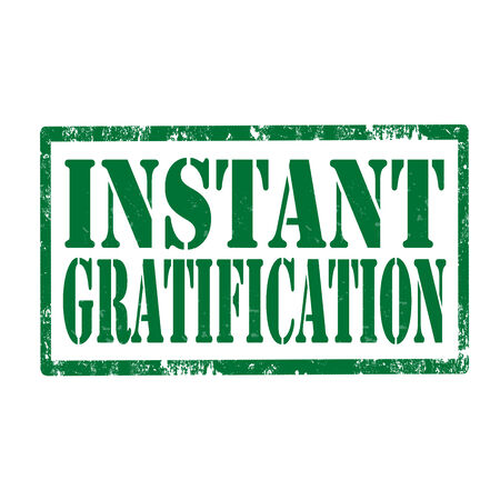gratification: Grunge rubber stamp with text Instant Gratification,vector illustration Illustration