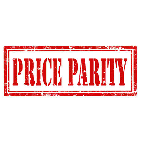 parity: Grunge rubber stamp with text Price Parity,vector illustration Illustration