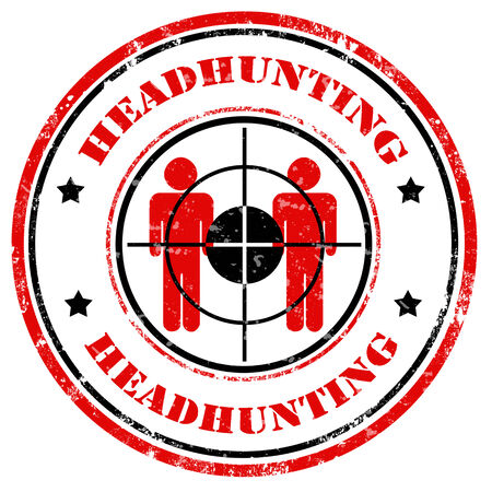 headhunting: Grunge rubber stamp with text Headhunting,vector illustration