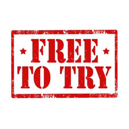 essayer: tampon en caoutchouc grunge avec le texte gratuit pour essayer, illustration vectorielle