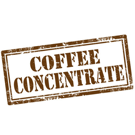 concentrate: Grunge rubber stamp with text Coffee Concentrate,vector illustration