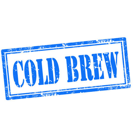 brew: Grunge rubber stamp with text Cold Brew,vector illustration