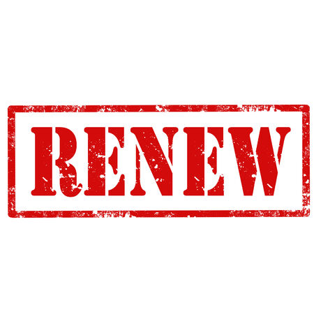 to renew: Grunge rubber stamp with text Renew,vector illustration