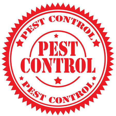 vector control illustration: Rubber stamp with text Pest Control,vector illustration