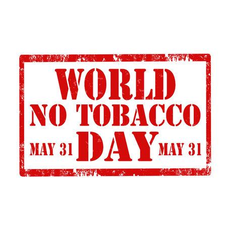 与世界没有烟草天的难看的东西橡皮戳,传染媒介例证