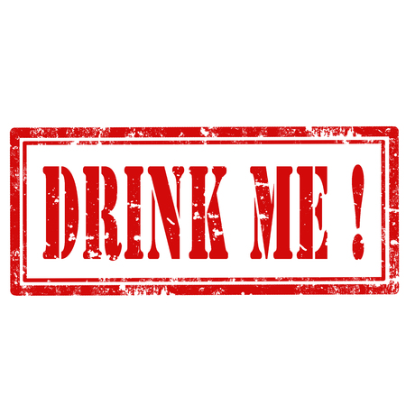 drink me: Grunge rubber stamp with text Drink Me,vector illustration