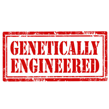 genetically engineered: Grunge rubber stamp with text Genetically Engineered,vector illustration Illustration