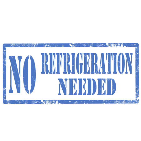 refrigeration: Grunge rubber stamp with text No Refrigeration Needed,vector illustration