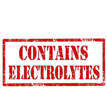 electrolytes: Grunge rubber stamp with text Contains Electrolytes,vector illustration