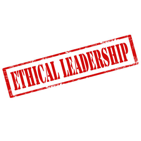ethical: Grunge rubber stamp with text Ethical Leadership,vector illustration Illustration