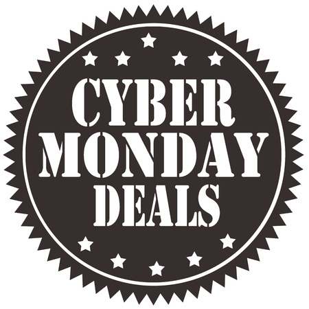 Label with text Cyber Monday Deals