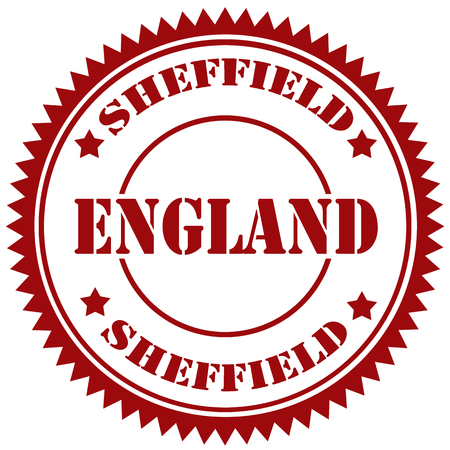 sheffield: Rubber stamp with text Sheffield-England Illustration
