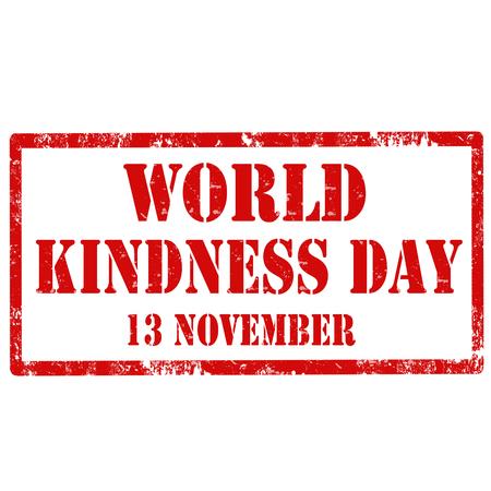 gentillesse: Tampon en caoutchouc grunge avec la Journ�e de la gentillesse texte mondiale, illustration vectorielle Illustration