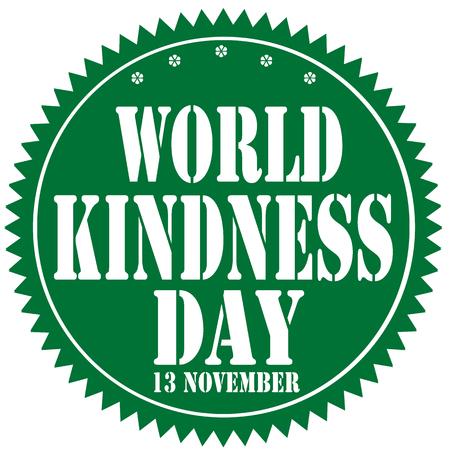 gentillesse: �tiqueter avec la Journ�e de la gentillesse texte mondiale