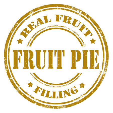 Grunge rubber stamp with text Fruit Pie Illustration