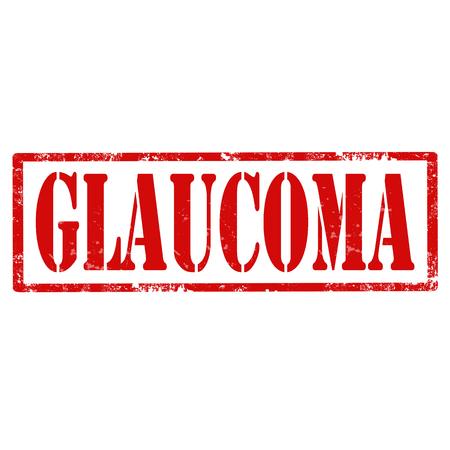 glaucoma: Grunge rubber stamp with text Glaucoma