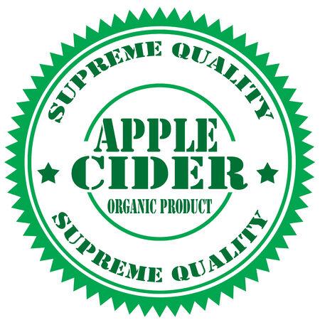 cider: Rubber stamp with text Apple Cider,illustration