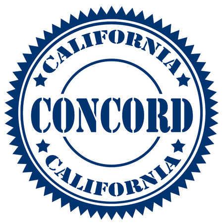 contra: Rubber stamp with text Concord-California,illustration Illustration