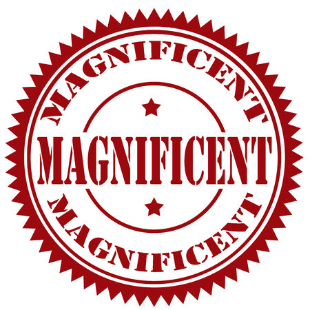 magnificent: Rubber stamp with text Magnificent,illustration Illustration