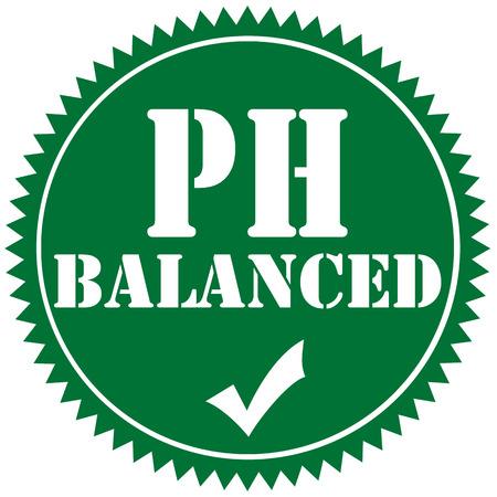 Green label with text PH Balanced illustration