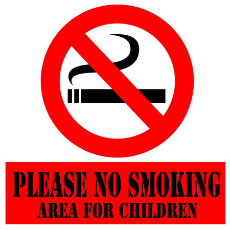 Labels with  text Please No Smoking illustration Vector