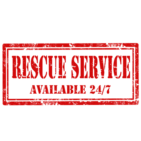 rescue service: Grunge rubber stamp with text Rescue Service, illustration