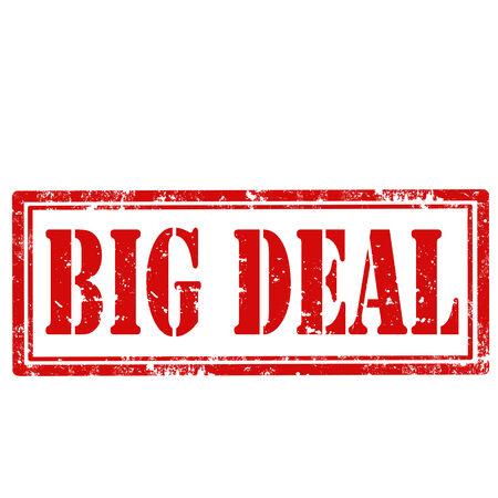 big deal: Grunge rubber stamp with text Big Deal,vector illustration Illustration