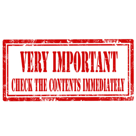 immediately: Grunge rubber stamp with text Very Important,vector illustration