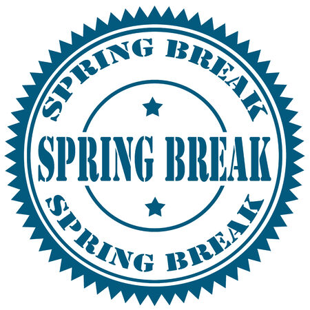 spring break: Rubber stamp with text Spring Break,vector illustration