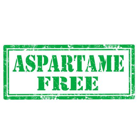 aspartame: Grunge rubber stamp with text Aspartame Free illustration