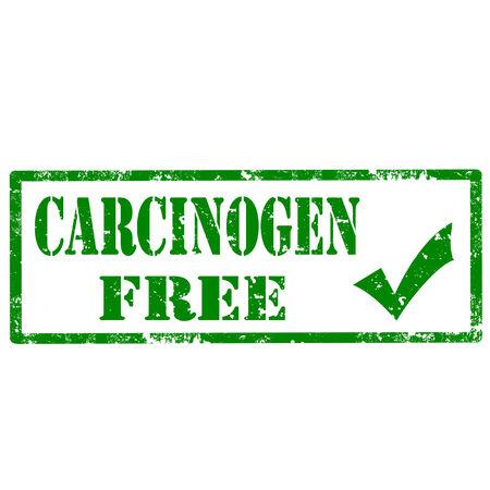 carcinogen: Grunge rubber stamp with text Carcinogen Free