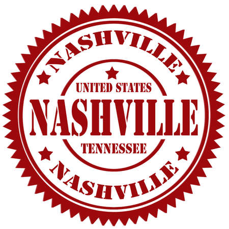 Rubber stamp with text Nashville Vector