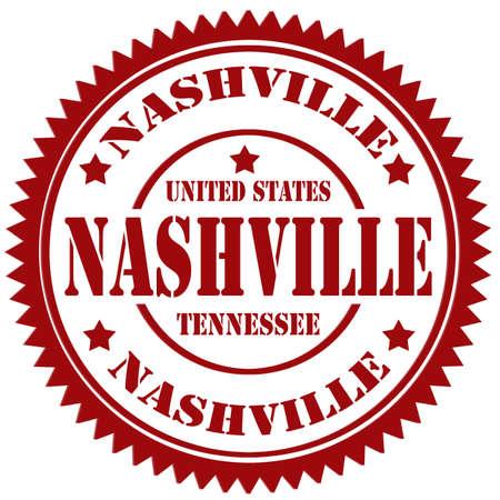 nashville: Rubber stamp with text Nashville