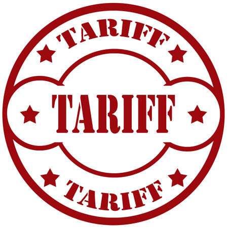tariff: Rubber stamp with text Tariff