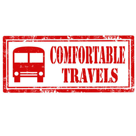 comfortable: Grunge rubber stamp with text Comfortable Travels,vector illustration